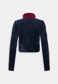 Jaded London - ZIP THROUGH TRACK TOP WITH EMBROIDERY - Zip-up sweatshirt - navy/burgundy - 1