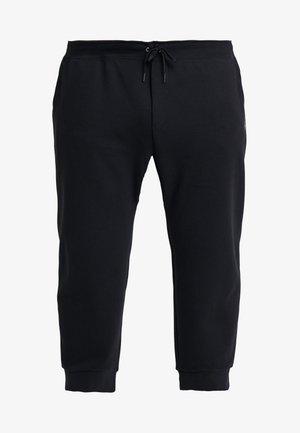 DOUBLE KNIT TECH - Pantaloni sportivi - polo black