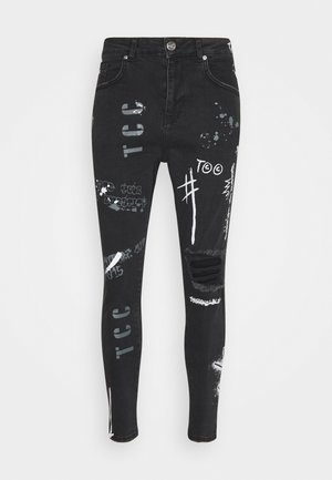 GRAFITTI CARROT FIT - Jeansy Zwężane - black wash