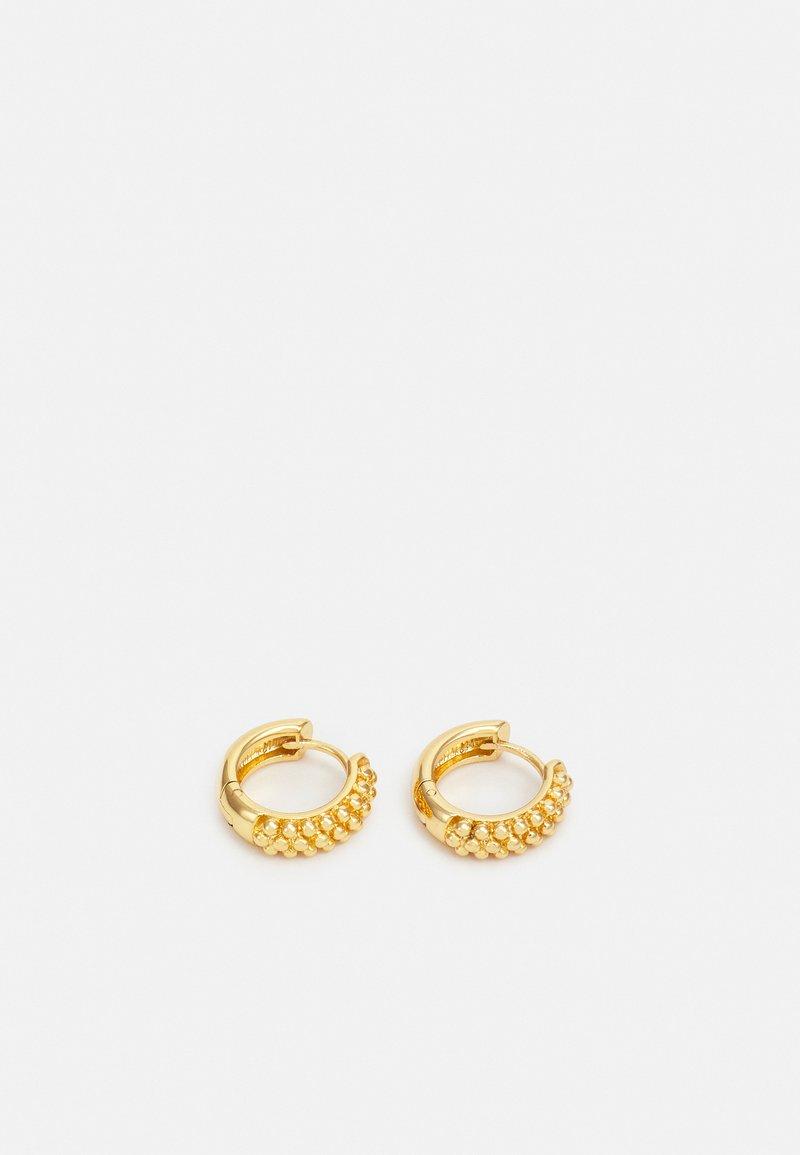 Orelia - BEADED HUGGIE HOOPS - Earrings - gold-coloured