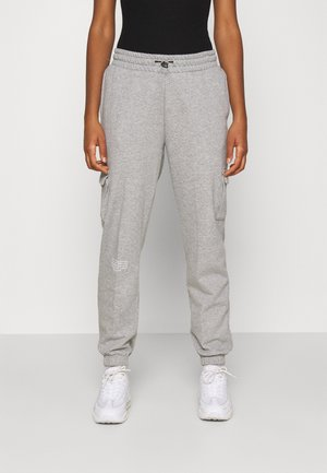 PANT - Joggebukse - grey heather/white