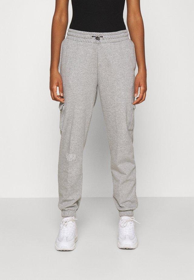 PANT - Pantalon de survêtement - grey heather/white