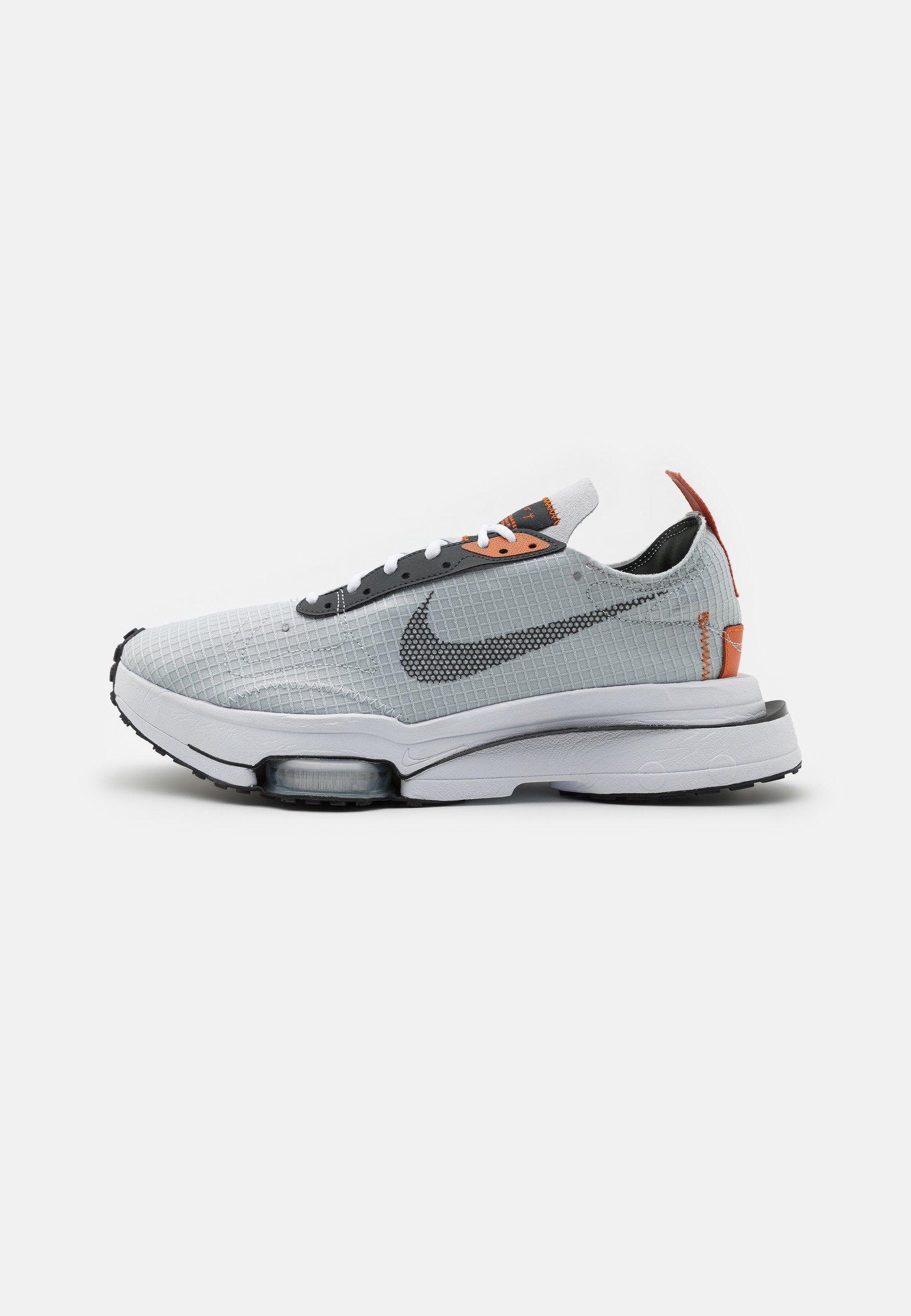 AIR ZOOM TYPE - Baskets basses - grey fog/dark smoke grey/campfire orange