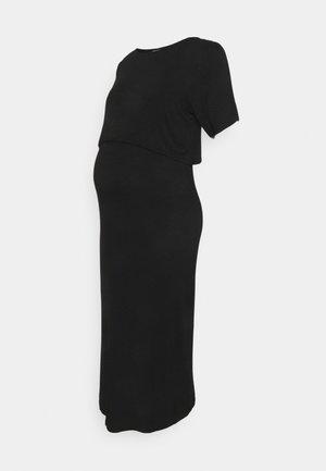 NURSING DRESS - Žerzejové šaty - black