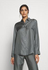 ASCENO - LONDON - Pyjama top - grey/black - 0