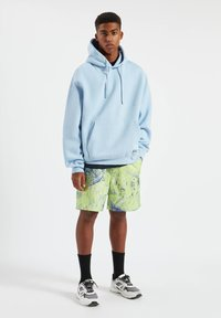 PULL&BEAR - Sweat à capuche - neon blue - 0