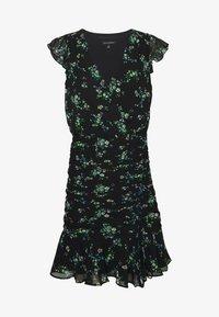 Banana Republic - RUFFLE RUCHED MINI PRINT - Denní šaty - black - 5