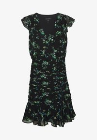 Banana Republic - RUFFLE RUCHED MINI PRINT - Sukienka letnia - black - 5