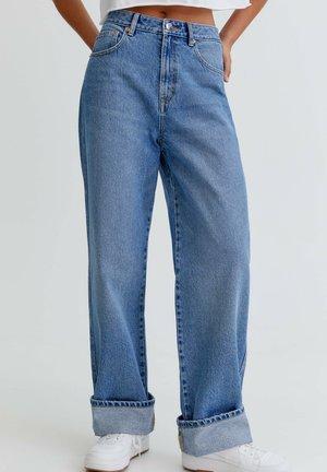 BOYFRIEND - Jeans relaxed fit - dark blue denim