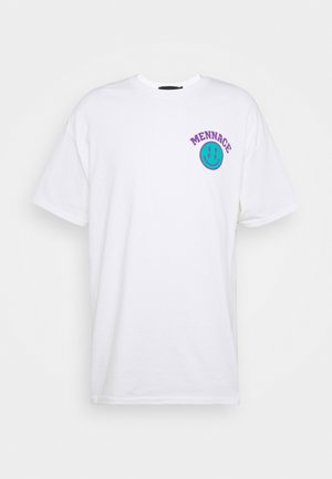 UNISEX MENNACE TWISTED  - Print T-shirt - white