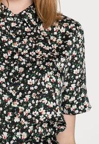 Anna Field - WOVEN BLOUSE DRESS - Sukienka koszulowa - black/white - 4
