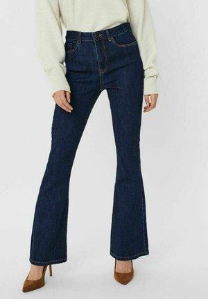 VMSIGA HIGH WAIST - Bootcut jeans - dark blue denim
