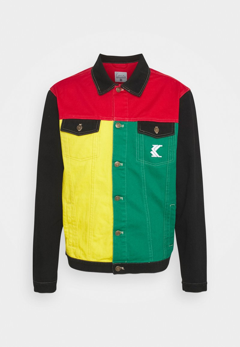 Karl Kani - BLOCK TRUCKER - Denim jacket - red