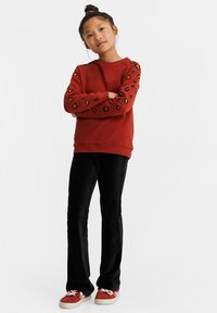 WE Fashion - MET EMBROIDERY - Sweater - orange - 1