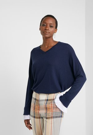 EXCLUSIVE BLOUSE  - Strickpullover - navy