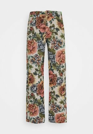 FLORAL JACQUARD SKATE - Jeans baggy - multi