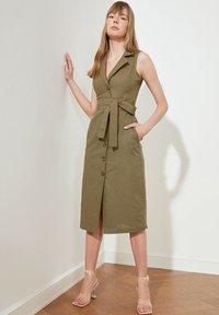 Trendyol - PARENT - Shirt dress - green - 2