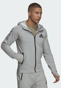adidas Performance - M MT FZ HD - Zip-up sweatshirt - grey - 5
