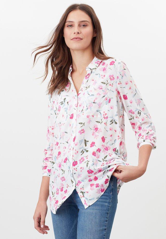 Button-down blouse - cremefarben floral