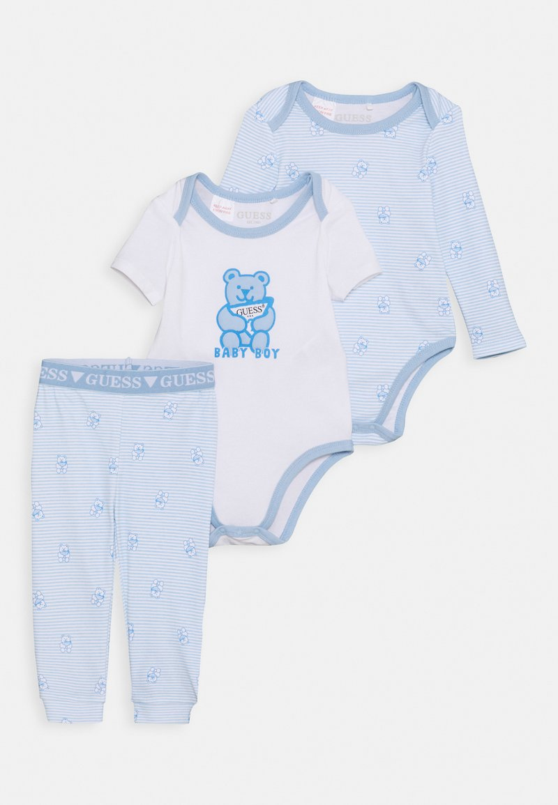 Guess - BODY PANTS - Pyjama set - blue/white