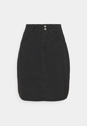 NMASHLEY SKIRT - Mini skirt - black denim