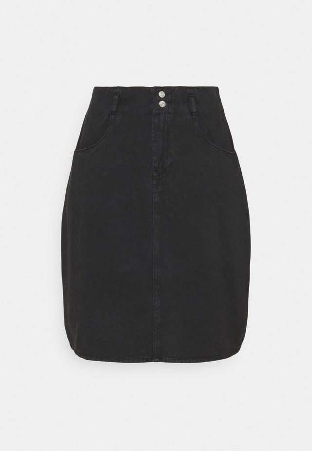 NMASHLEY SKIRT - Minigonna - black denim