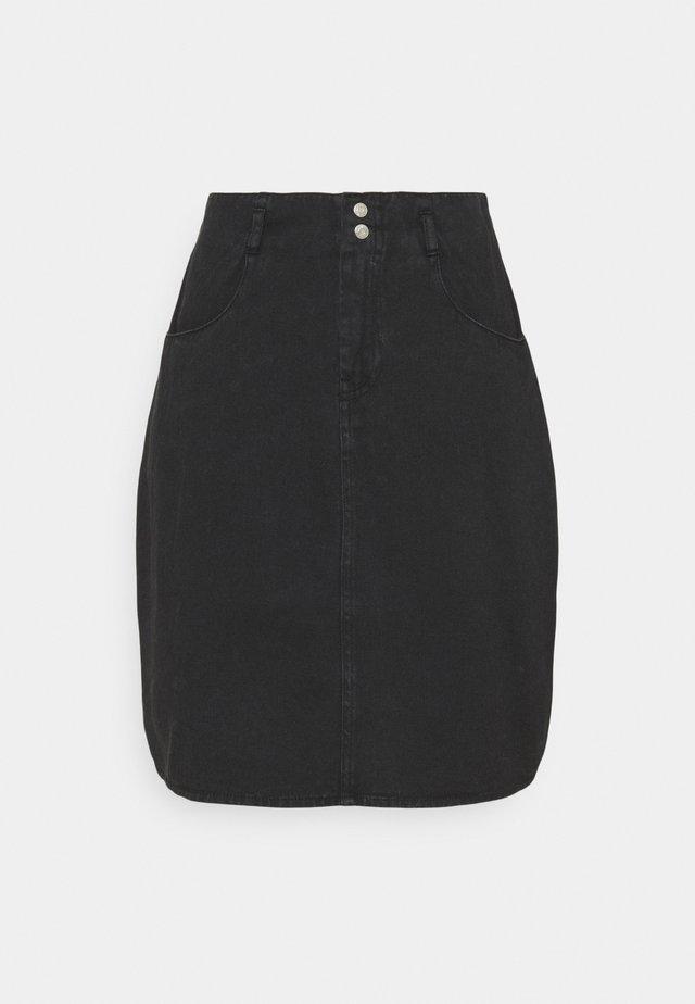 NMASHLEY SKIRT - Spódnica mini - black denim