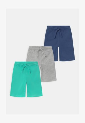 3 PACK - Shorts - dark blue/turquoise/grey