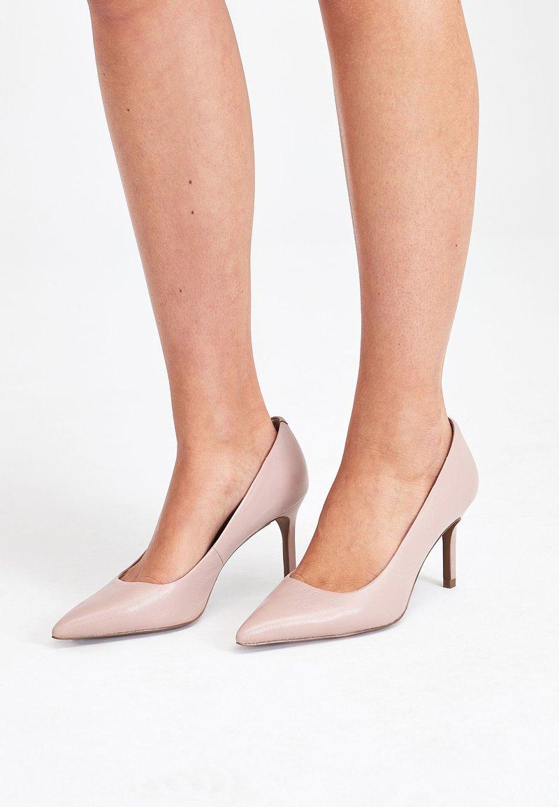 Next - BLACK SUEDE COURT SHOES - High heels - beige
