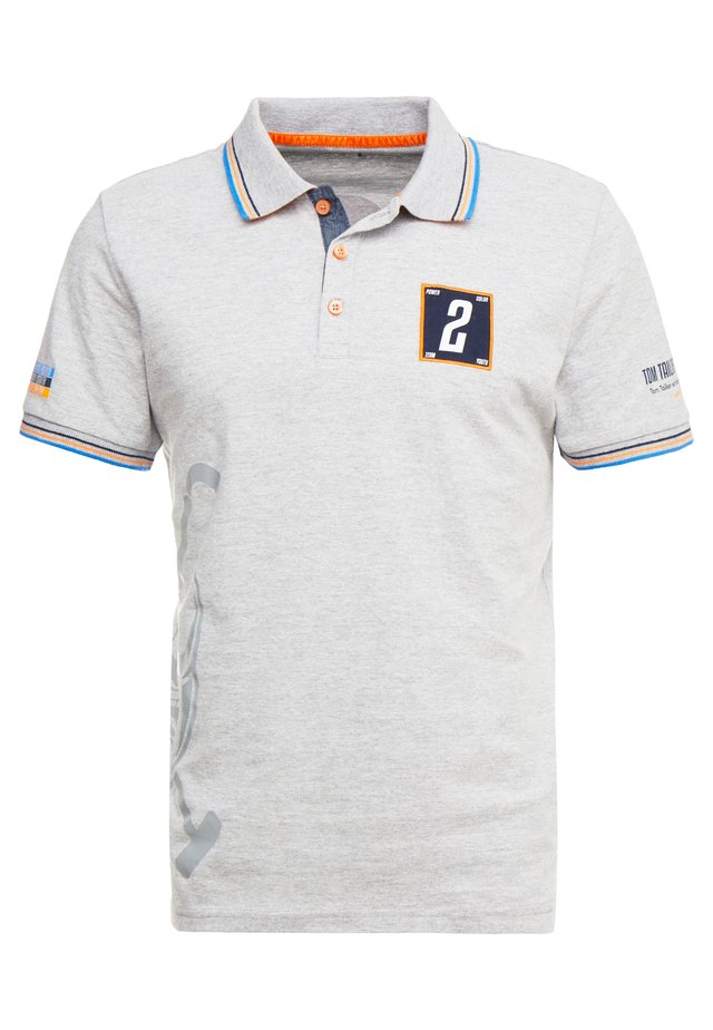 DECORATED TEAM - Polo - middle grey melange