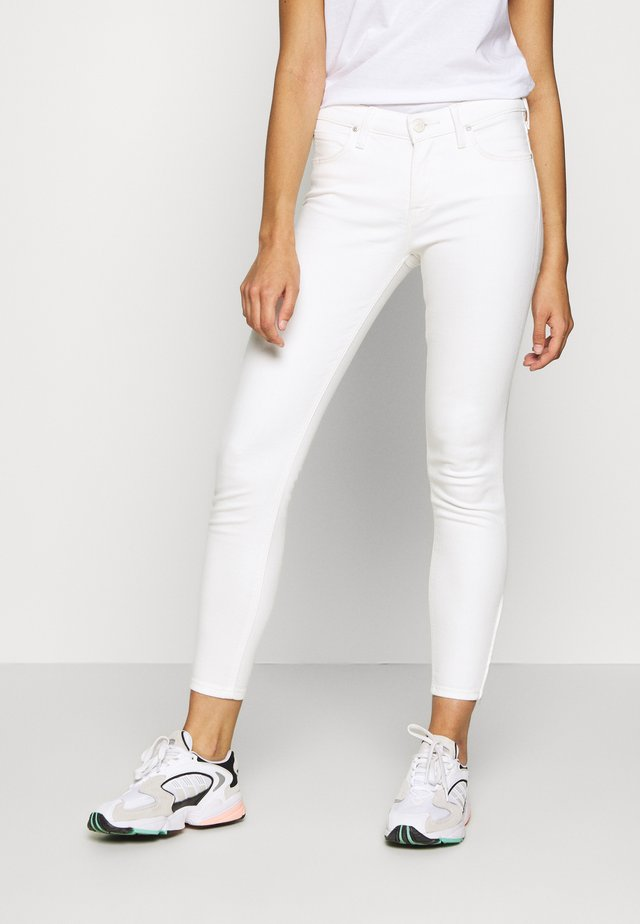 SCARLETT CROPPED - Jeansy Skinny Fit - white