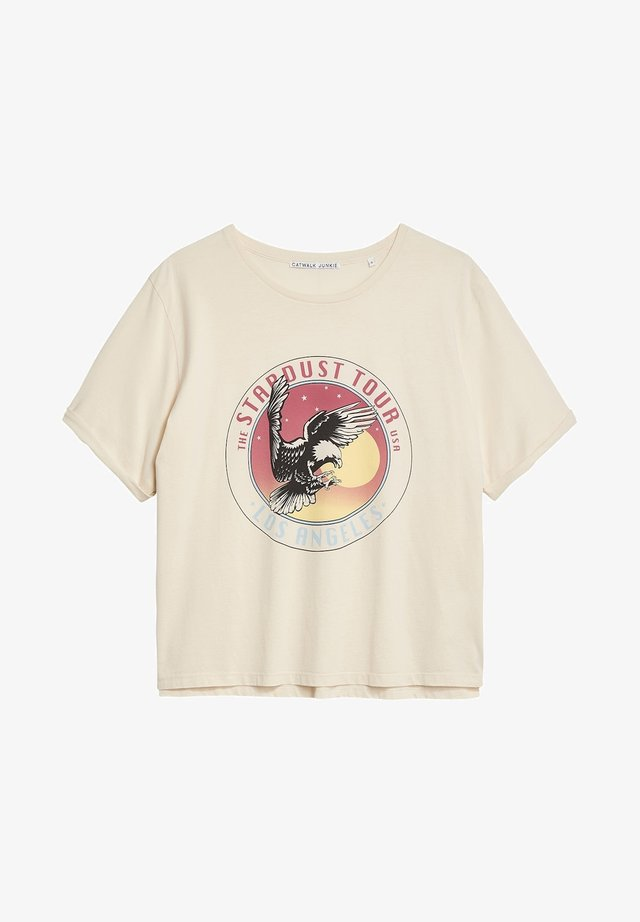 TS EAGLY EYE - Print T-shirt - white sand