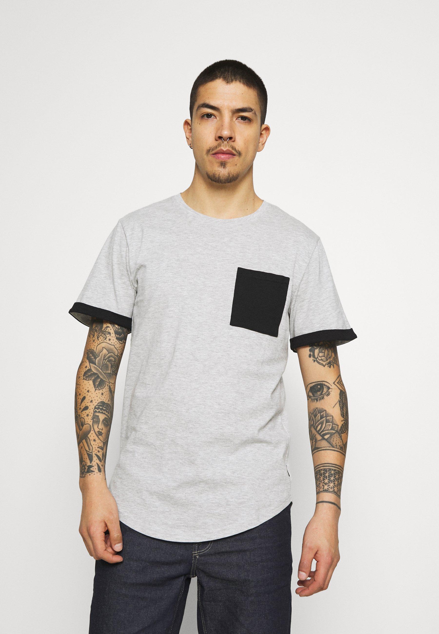 Homme ONSMATT LIFE LONGY CONTRAST TEE - T-shirt imprimé