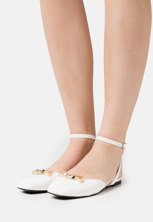 AGAVE - Ankle strap ballet pumps - white