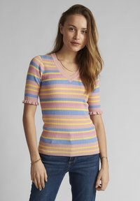Nümph - Print T-shirt - peach skin - 0