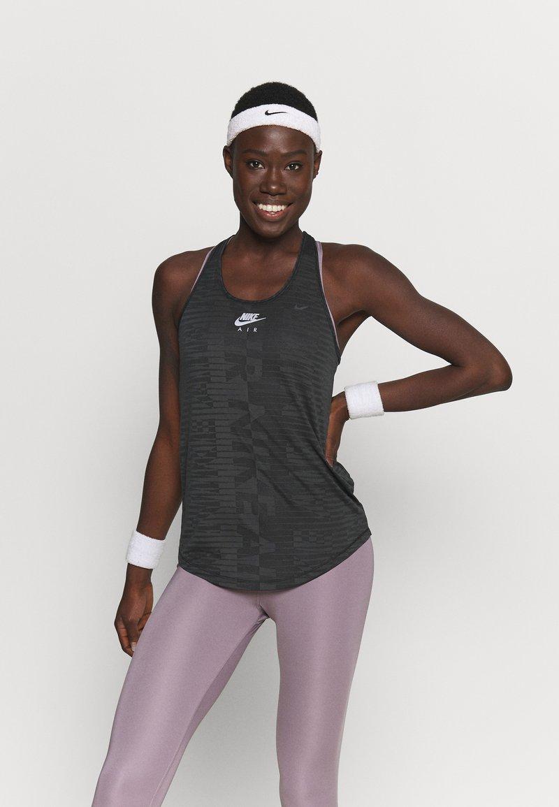 Nike Performance - AIR TANK - Sportshirt - black/iron grey/silver