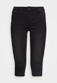 Vero Moda - VMSEVEN BUTTON FLY KNICKERS - Denim shorts - black - 3
