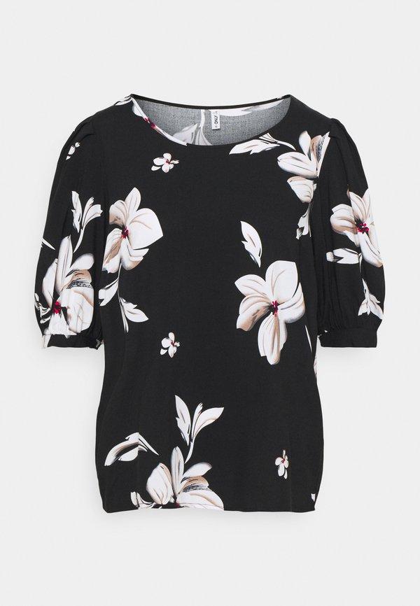 ONLY ONLKARMA LIFE - T-shirt z nadrukiem - black/czarny JZKY