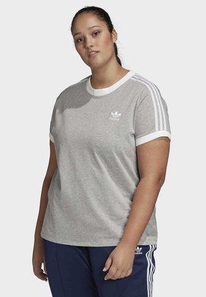 3-STRIPES T-SHIRT (PLUS SIZE) - T-shirt con stampa - grey