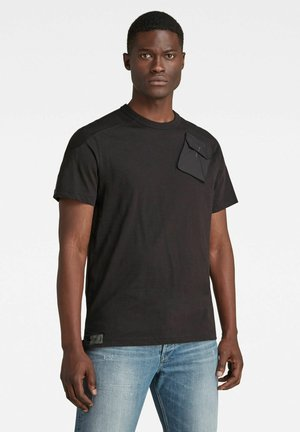 MILITARY 3D WOVEN POCKET - T-shirt con stampa - dk black