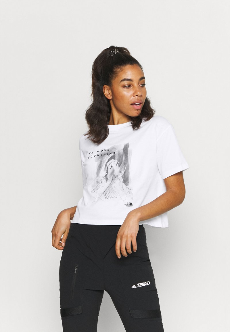 The North Face - CROP TEE - T-shirt con stampa - white