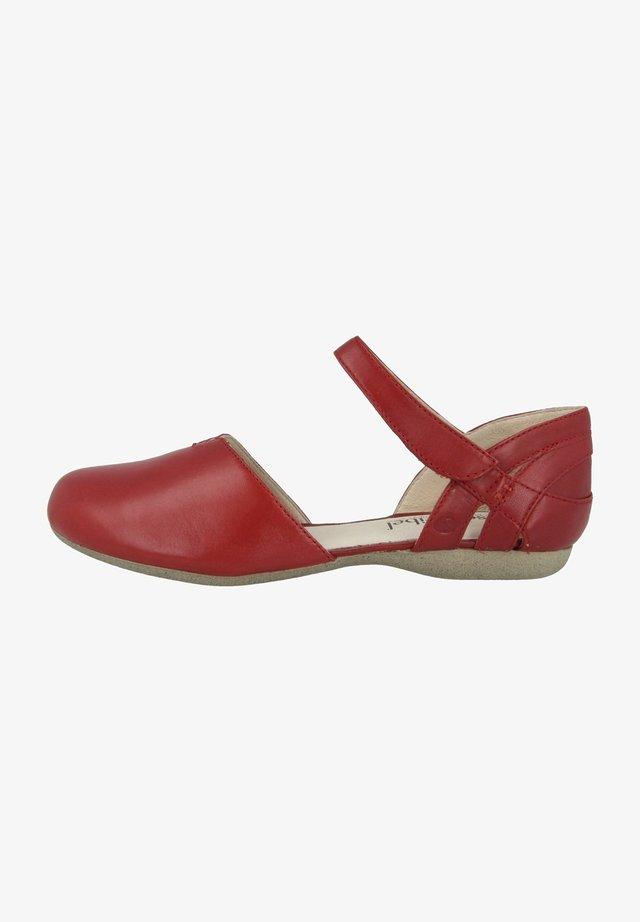 Ankle strap ballet pumps - ruby