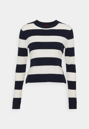 CRESCITA - Jumper - navy blue pattern