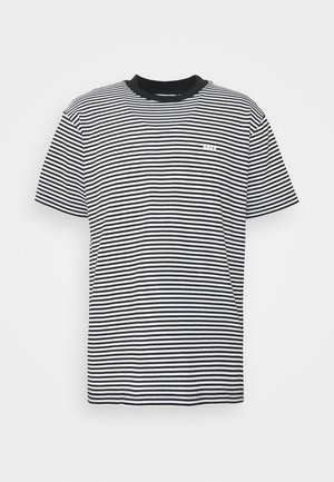 IDEALS STRIPE TEE - T-shirt z nadrukiem - black