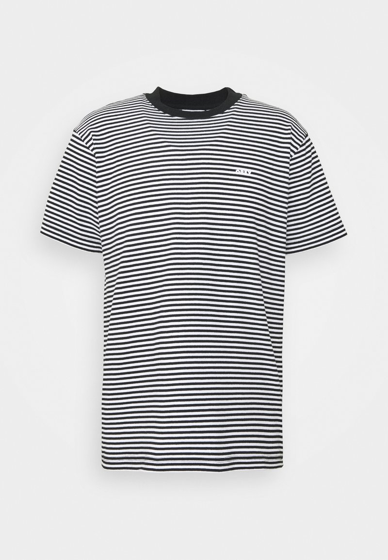 Obey Clothing - IDEALS STRIPE TEE - Print T-shirt - black