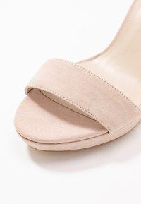Anna Field - LEATHER HEELED SANDALS - Korolliset sandaalit - nude - 2