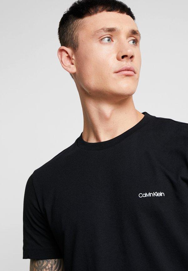Calvin Klein CHEST LOGO - T-shirt basic - black/czarny Odzież Męska WADX