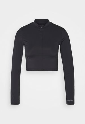 SPY CROP TOP LONG SLEEVES - Topper langermet - black