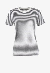 Selected Femme - SFMY PERFECT TEE BOX CUT - Print T-shirt - peacoat - 5