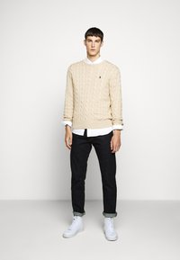 Polo Ralph Lauren - CABLE - Svetr - oatmeal heather - 1